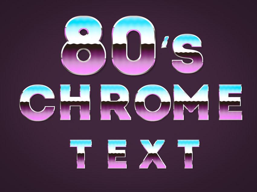 80s Chrome Font
