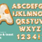 Eggs and Toast Food Alphabet