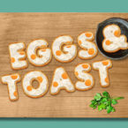 Eggs and Toast Breakfast Font