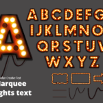 Marquee Lights Text Effect