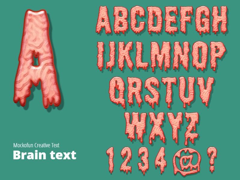 Brain Horror Text