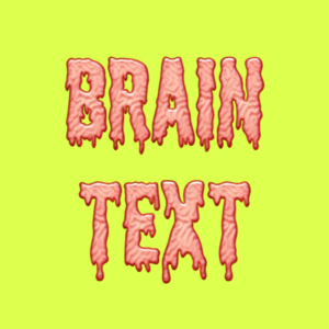 brain texture text effect