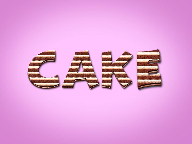 Cake Text