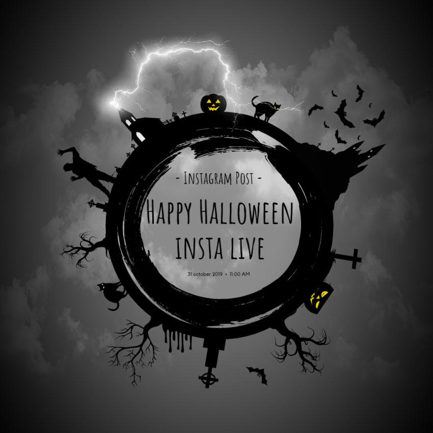 Creepy Halloween Instagram Post