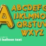Foil Balloon Alphabet