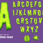 Slime text letters