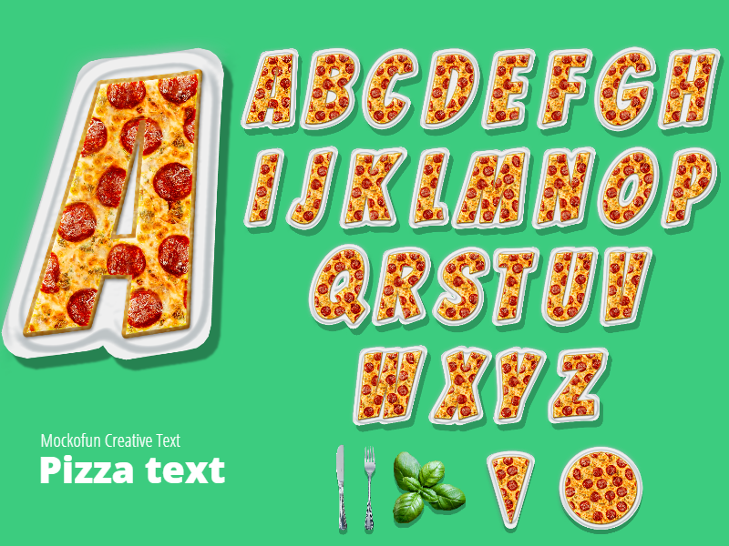 Pizza Alphabet