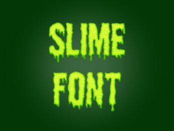Slime font