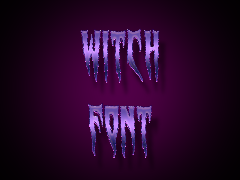 witch font