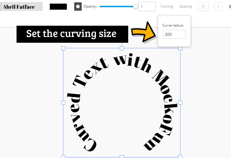 Curved Text Online