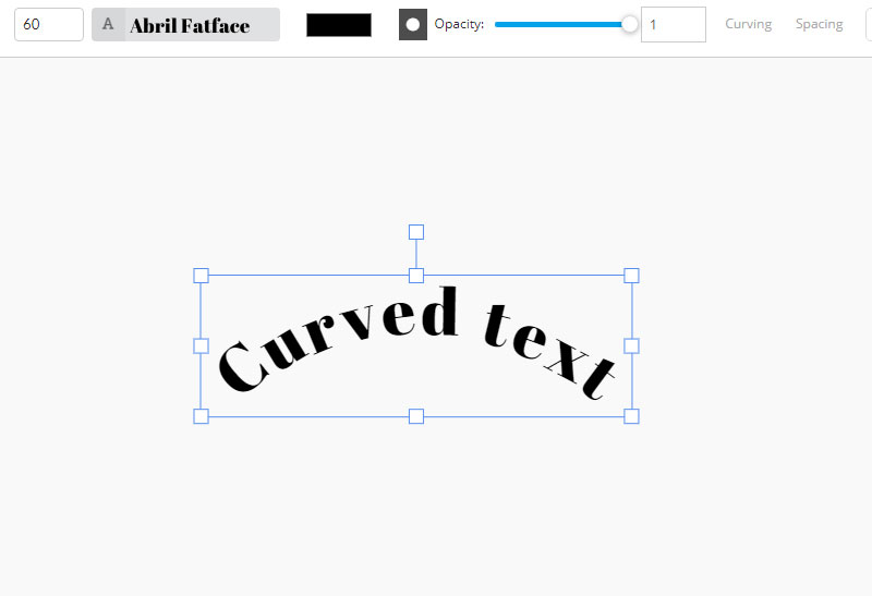 Curved Text Tool