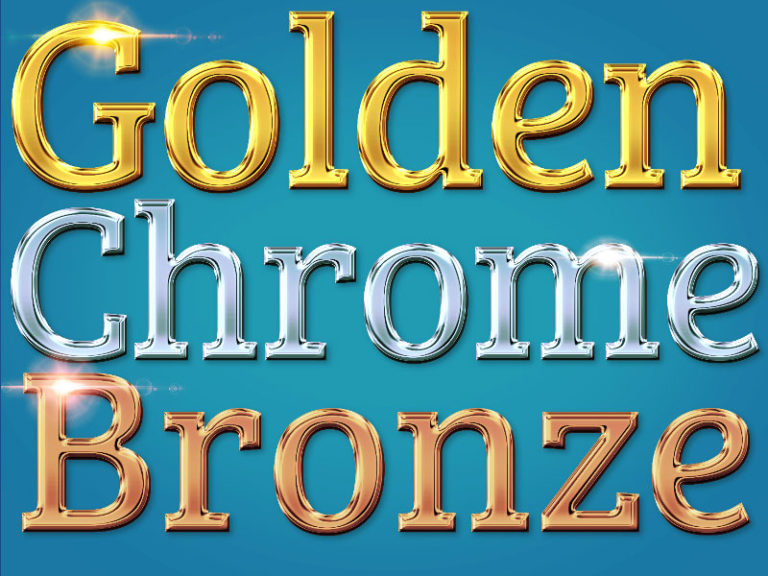 Gold Silver Bronze Letters