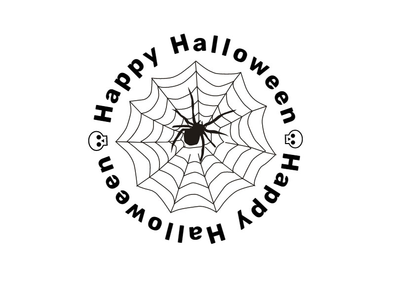 Happy Halloween Text Badge