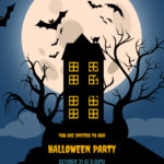 Spooky House Halloween Poster