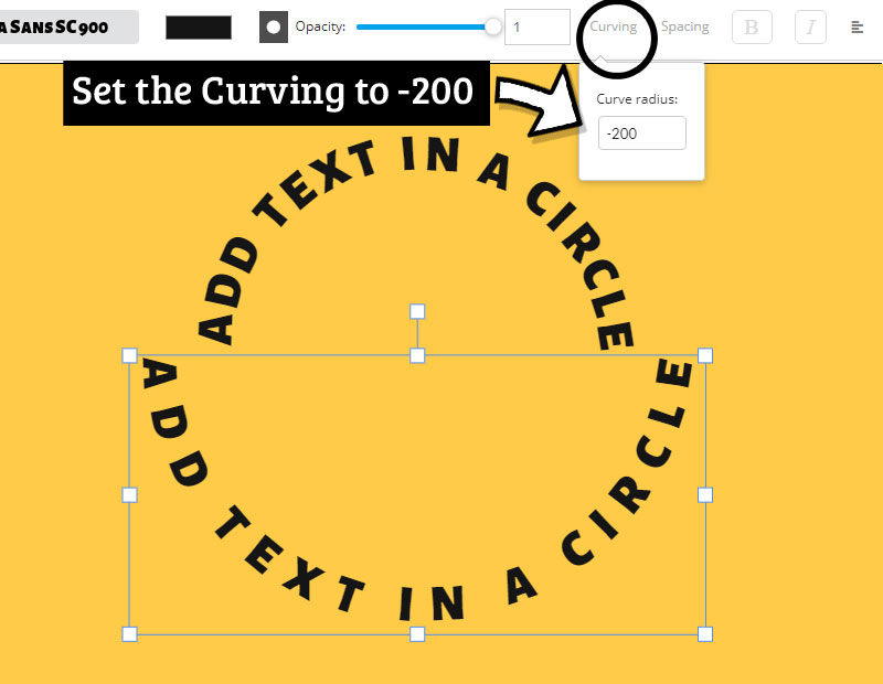 Text in A Circle