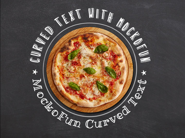 Pizza Banner with Circle Text