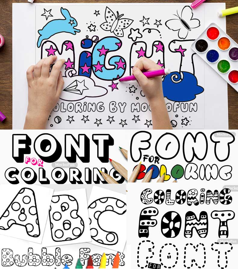 Fonts for Coloring