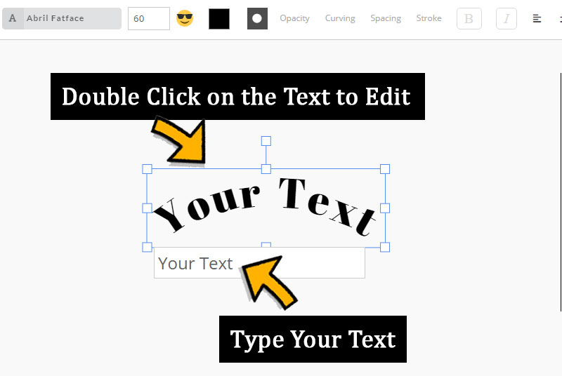 Free Curved Text Tool