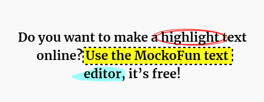 Highlighted Fonts