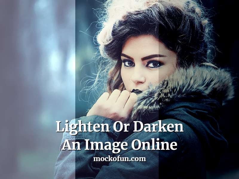 Lighten An Image Or Darken An Image Online