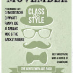 Movember Party Poster