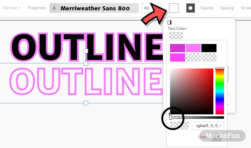 Outline Font Generator