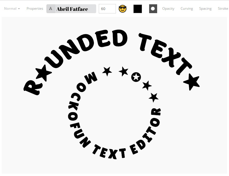 Rounded Text