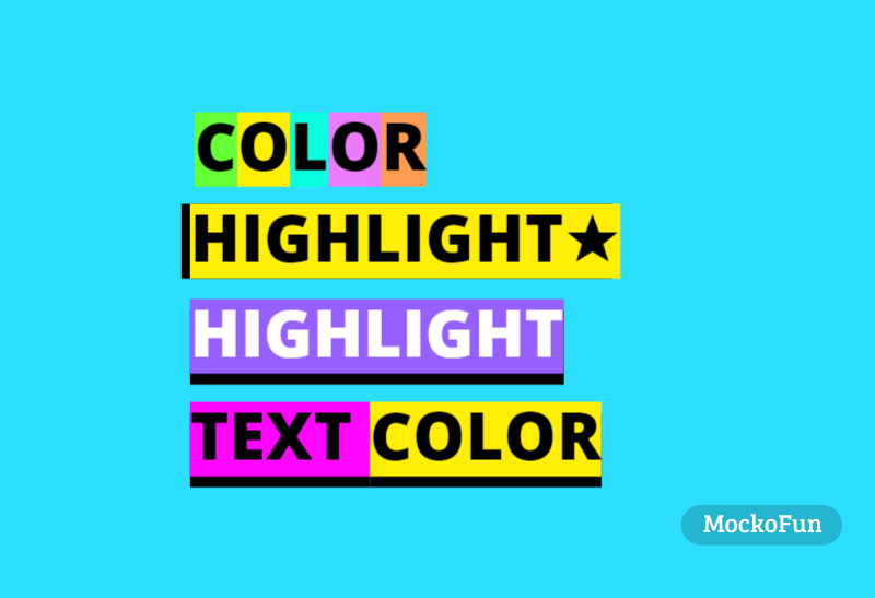 Text with Background Color