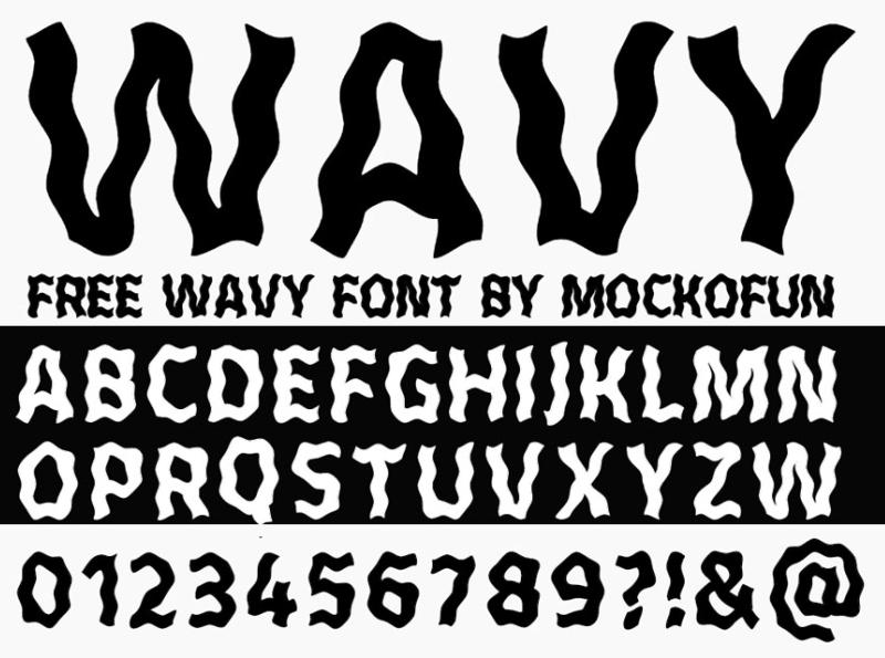 Wavy Font