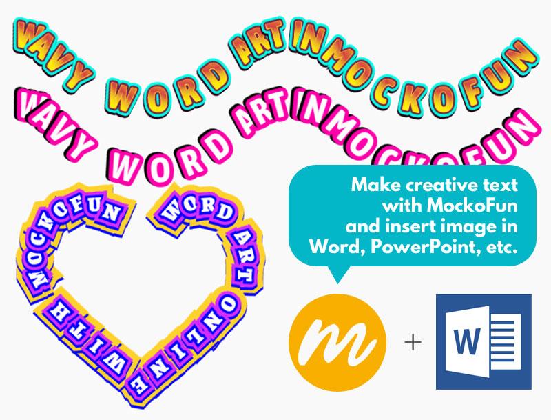 Wavy Word Art