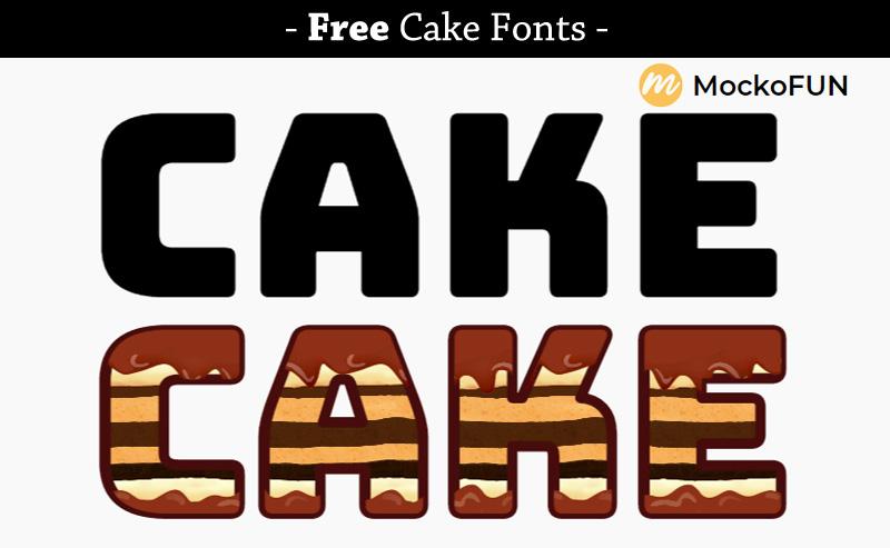 Cake Letter Font