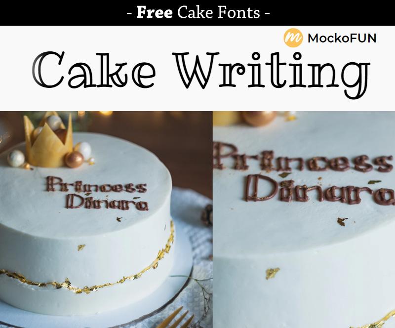 Surprising Free Cake Fonts Mockofun Funny Birthday Cards Online Aeocydamsfinfo