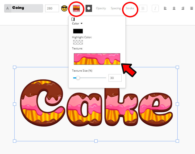 Cake Text Effect Online