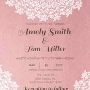 Copy of Rustic Wedding Card