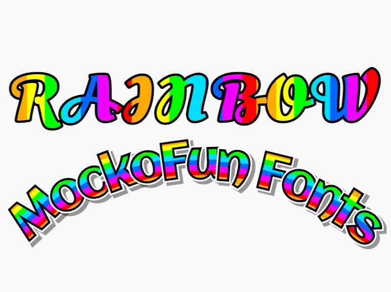 Rainbow Font