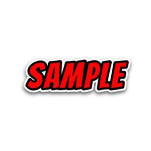 Comic Sticker Text Style