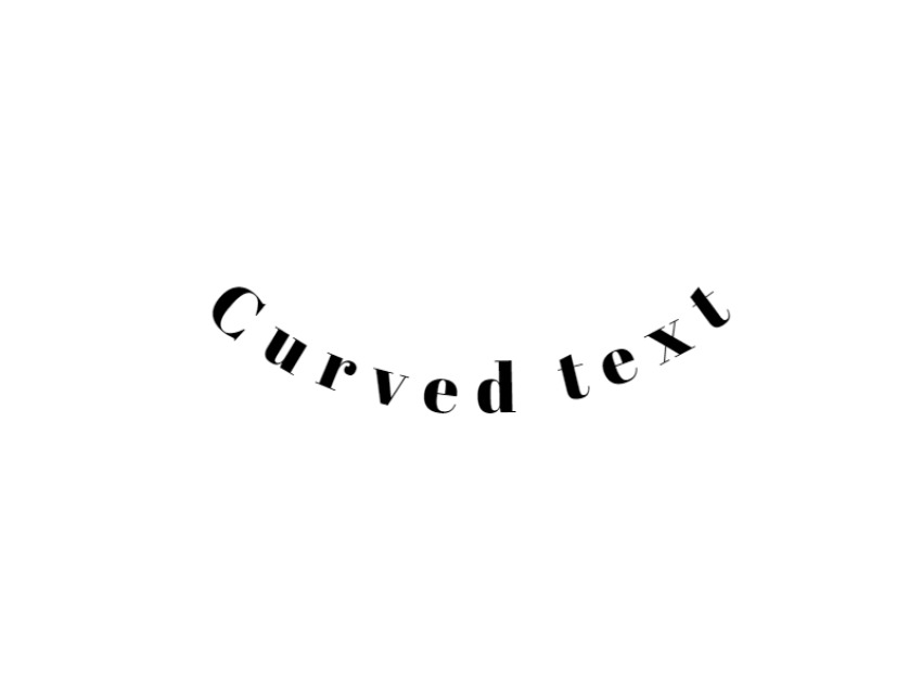 Curved Text Under