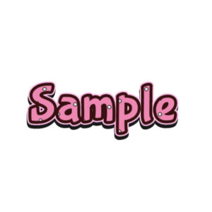 Cute Pink Text Style