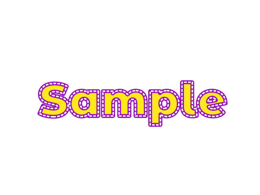 Double Stitch Text Style