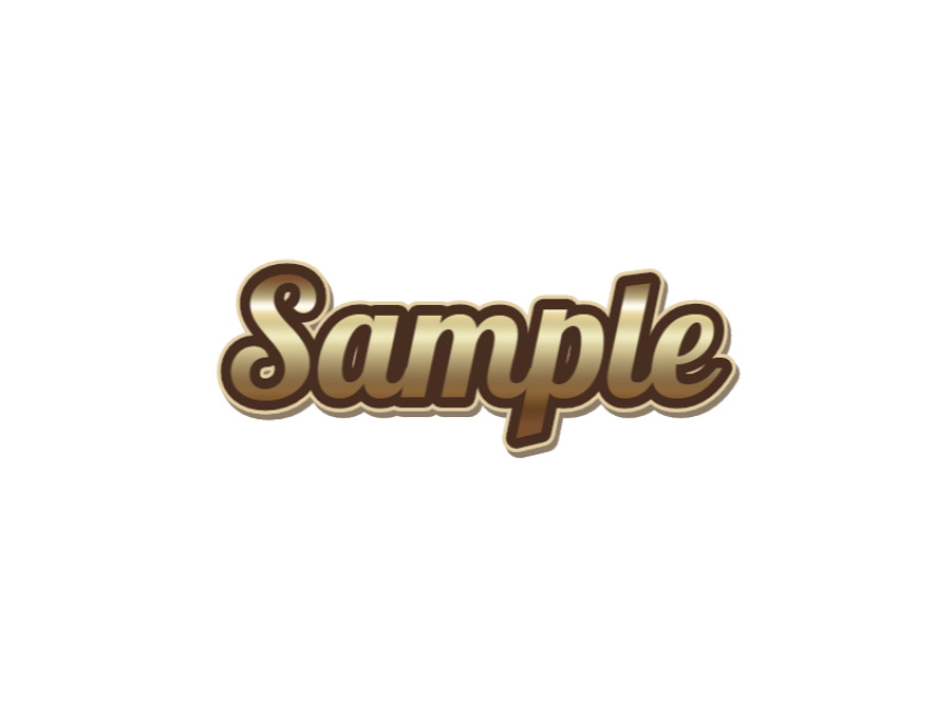 Gold Sticker Text Style