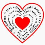 Heart Text Art