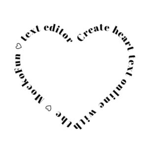 Heart Text