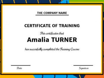 Training Certificate Design