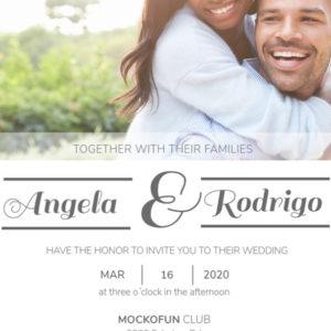 Wedding Card with Photo