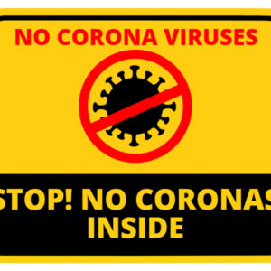 Coronavirus Stop Sign Shape Rectangle