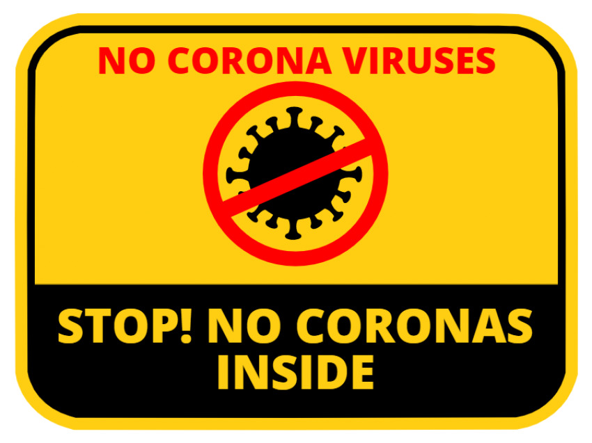 Coronavirus Stop Sign Shape Rectangle
