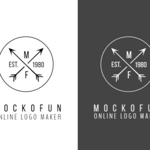 Cross Arrow Logo Design