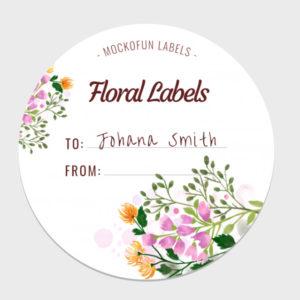 Floral Round Label