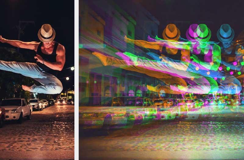 Neon Photo Effect