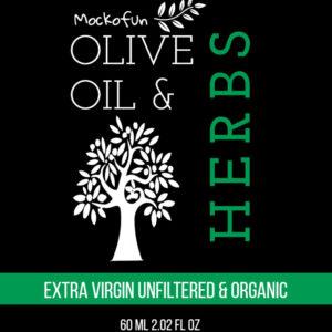 Olive Oil Bottle Label